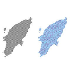 Dot greek rhodes island map abstractions vector