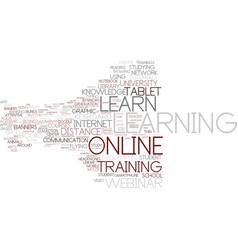 E-learn word cloud concept vector