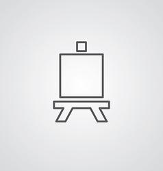 easel outline symbol dark on white background logo vector image