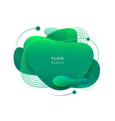 fluid blob in 3d shape vector image