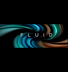 Fluid color motion concept vector