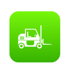 forklift icon digital green vector image