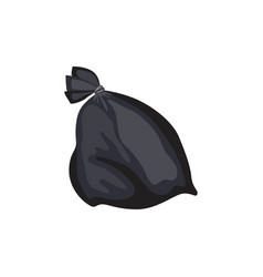 Garbage plastic bag or sack full rubbish vector