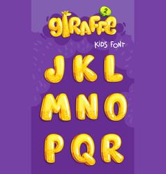 giraffe font 2set vector image
