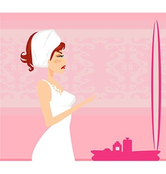 girl with a pimple vector image