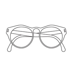 glasses icon outlined vector image