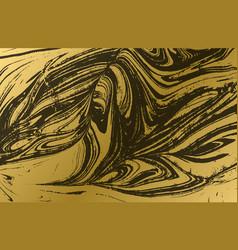 Gold marbled texture golden background black vector