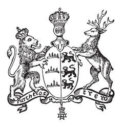 Great seal wurtemberg is a european coat of vector