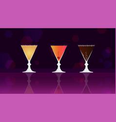 grey goose cherry noir cherry daiquiri cocktail vector image