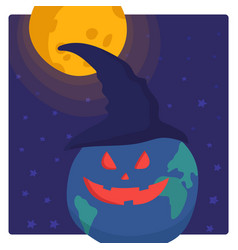 Halloween party on earth vector