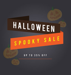 halloween sale background with pumpskin vector image