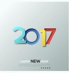 happy new year 2017 congratulation celebration vector image