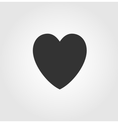 Heart icon flat design vector image