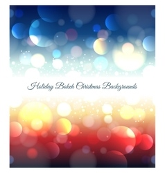 Holiday abstract bokeh christmas background vector image
