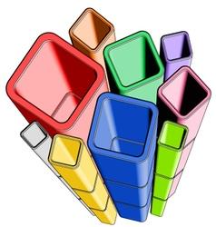 Imaginative color figures vector