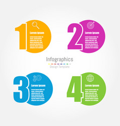 infographic design template with four options vector image