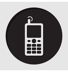 Information icon - old mobile phone with antenna vector
