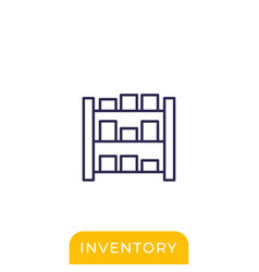 Inventory line icon on white vector