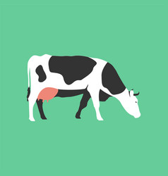 isolated flat cow farm animal cartoon character vector image