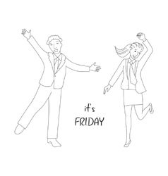 Its friday concept vector image