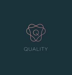 letter q logo monogram minimal style identity vector image