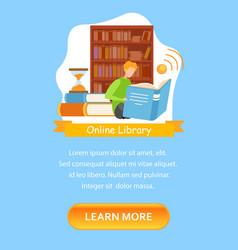 Library catalog mobile app screen template vector