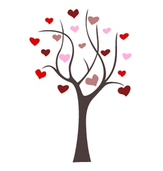 love tree icon vector image