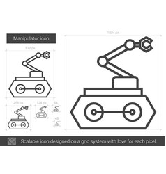 Manipulator line icon vector
