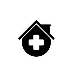 medical house clinic logo design template vector image