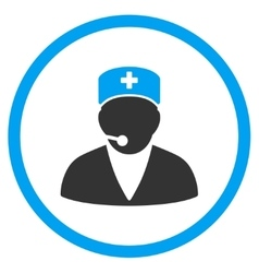 Medical Operator Rounded Icon vector image