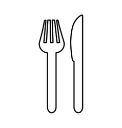 Meni design fork and knife icon silhouette vector