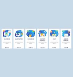 mobile app onboarding screens 3d modeling vector image