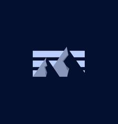 mountain landscape panorama creative logo vector image