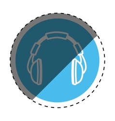 Music headphones device vector