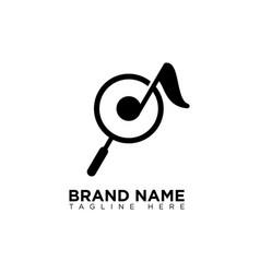 Music search logo design template vector