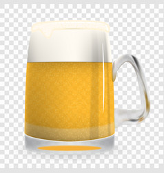naturalistic large glass of freshly coldly vector image