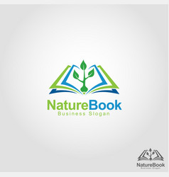 nature book - health education school logo vector image