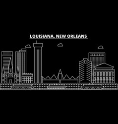 new orleans silhouette skyline usa - new orleans vector image