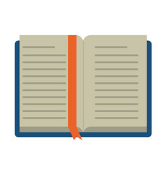 open book school learning library vector image