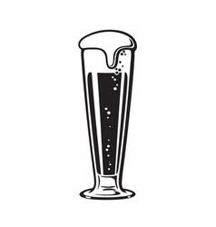 pilsner beer glass hand drawn vector image