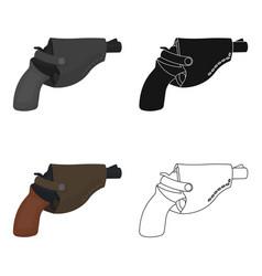 Pistol in the holster firearms pistol detective vector