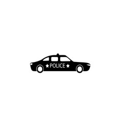 Police car icon element of popular car icon vector