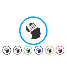 Propaganda brain shower rounded icon vector
