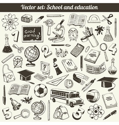 School And Education Doodles Collection vector