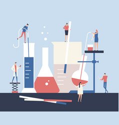 Scientists - flat design style vector
