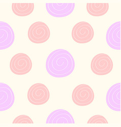 seamless pattern pink violet rose icon cute vector image