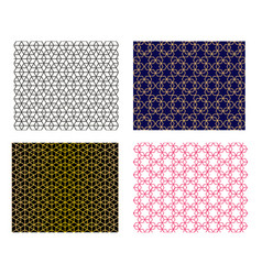 set of seamless islamic pattern art vector image