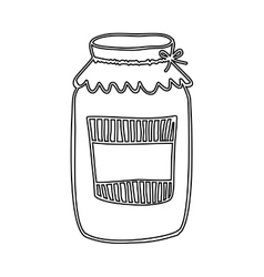 silhouette glass jam with label and lid vector image
