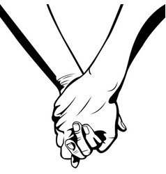 simple hand in hand vector image