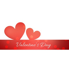 Simple valentine day background vector